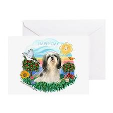 Happy Day Shih Tzu #3 Greeting Card