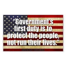 REAGAN: Government's first duty... QUOTE Bumper Stickers