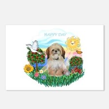 Happy Day Shih Tzu (P) Postcards (Package of 8)