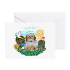 Happy Day Shih Tzu (P) Greeting Card