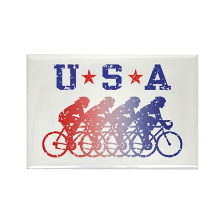 USA Cycling Female Rectangle Magnet