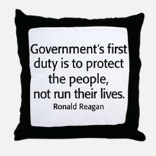 REAGAN: Government's first duty... QUOTE Throw Pil