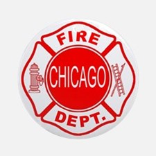 Chicago Firedepartment Ornament (Round)