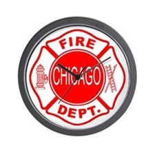Chicago Firedepartment Wall Clock