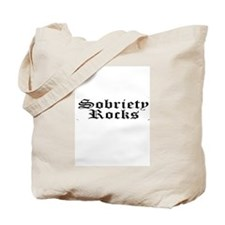 black sobriety rocks Tote Bag