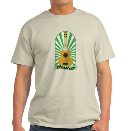 Green Sunburst Ukulele Light T-Shirt