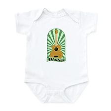 Green Sunburst Ukulele Infant Bodysuit