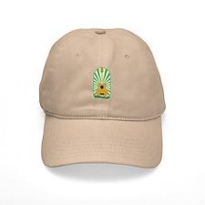 Green Sunburst Ukulele Baseball Baseball Cap