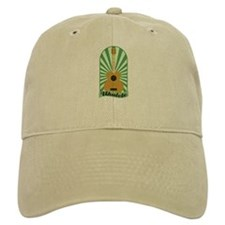 Green Sunburst Ukulele Baseball Cap