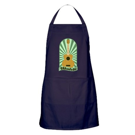 Green Sunburst Ukulele Apron (dark)