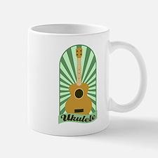 Green Sunburst Ukulele Coffee Mug