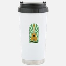 Green Sunburst Ukulele Travel Mug