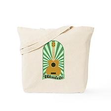 Green Sunburst Ukulele Tote Bag