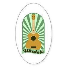 Green Sunburst Ukulele Decal