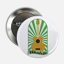 """Green Sunburst Ukulele 2.25"""" Button"""