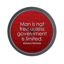 Man is not free unless... Wall Clock