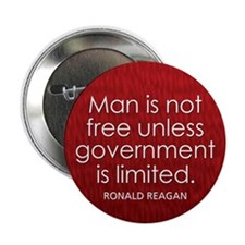 """Man is not free unless... 2.25"""" Button"""