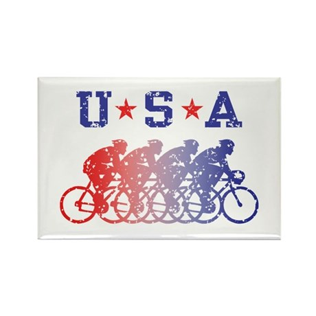 USA Cycling Male Rectangle Magnet