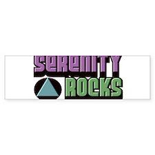 SERENITY ROCKS Bumper Sticker