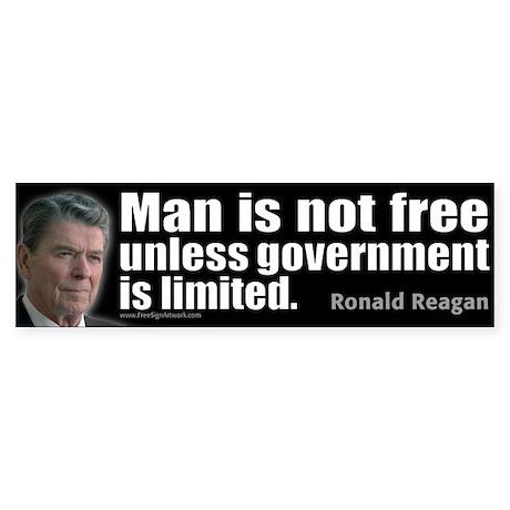 Man is not free unless... Sticker (Bumper)
