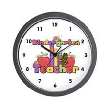 Numbered Kindergarten Teacher Wall Clock
