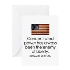 Concentrated Power - REAGAN - Greeting Card