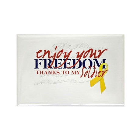 Enjoy Freedom ... Soldier Rectangle Magnet
