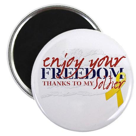 Enjoy Freedom ... Soldier Magnet