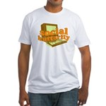 Social Butterfly Fitted T-Shirt