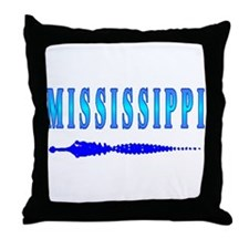 Mississippi Gator t-shirt sho Throw Pillow