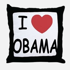 I heart Obama Throw Pillow