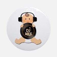 Baby DJ with Headphones Ornament (Round)