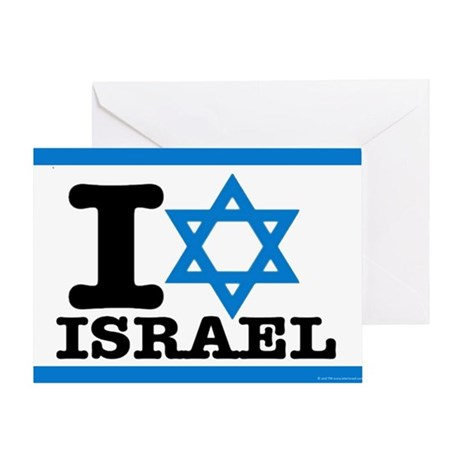 I STAR ISRAEL Greeting Card - Show Your Support!