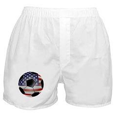 American Flag Soccer Ball Boxer Shorts