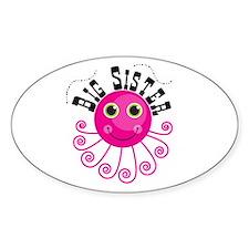 Pink Octopus Big Sister Decal