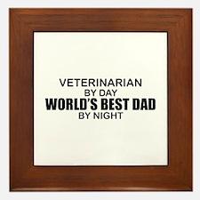 World's Best Dad - Veterinarian Framed Tile