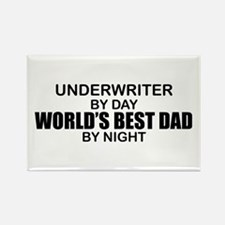 World's Best Dad - Underwriter Rectangle Magnet