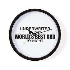 World's Best Dad - Underwriter Wall Clock