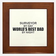 World's Best Dad - Surveyor Framed Tile