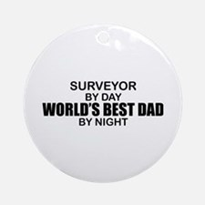 World's Best Dad - Surveyor Ornament (Round)
