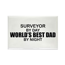 World's Best Dad - Surveyor Rectangle Magnet