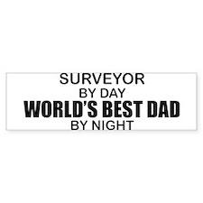 World's Best Dad - Surveyor Bumper Sticker