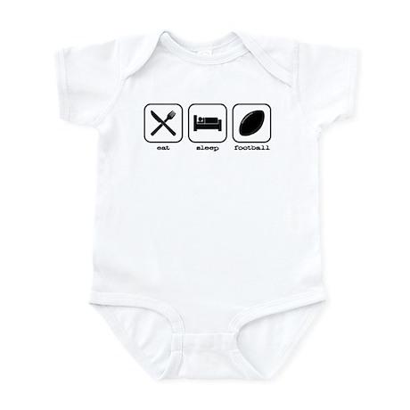 Eat, sleep, football Infant Bodysuit