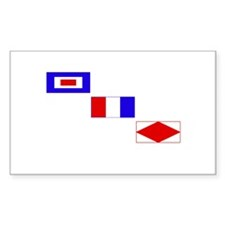 WTF Signal Flags Decal