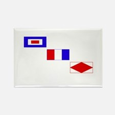WTF Signal Flags Rectangle Magnet