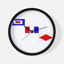 WTF Signal Flags Wall Clock