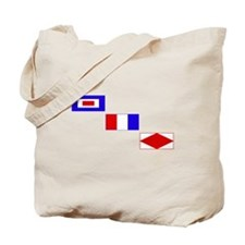 WTF Signal Flags Tote Bag
