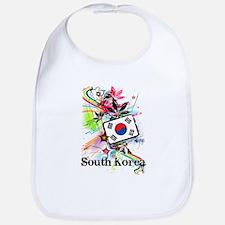 Flower South Korea Bib