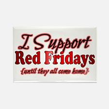 I support Red Fridays Rectangle Magnet (10 pack)