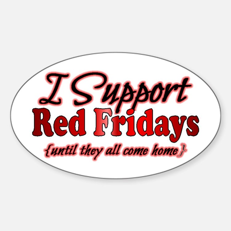 I support Red Fridays Decal